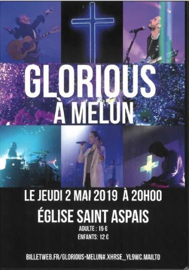 Concert glorious 2 mai 2019