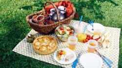 Pique nique panier quiche salade 5636441